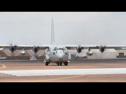 Lockheed C-130E Hercules Swedish Air Force departure on Wednesday RIAT 2014
