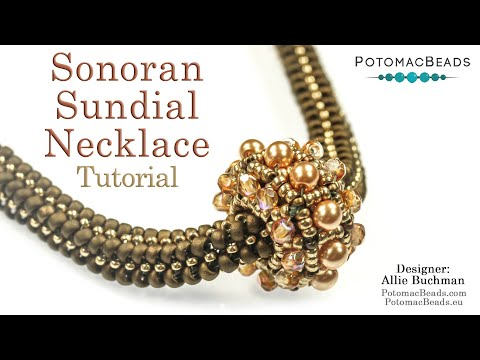 """Make this """"Sonoran Sundial"""" Necklace- DIY Jewelry Making Tutorial by PotomacBeads"""