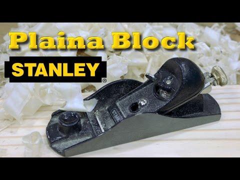 Plaina Block Stanley 12-220 - Review e ajustes iniciais