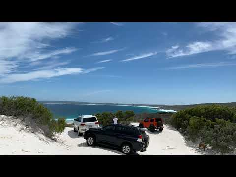 Beach driving in Bremer Bay, Western Australia, with a Suzuki Jimny.