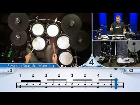 5-Minute Drum-Set Warm-Up (Intermediate) - Drum Lesson