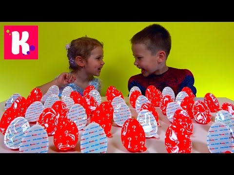 Киндер Joy Челлендж  50 яиц  Кто больше соберёт игрушек?!