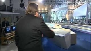 Владимир Путин в newsroom Первого канала