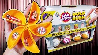 Unboxing Mini Brands Gold Rush - 5 Rose Gold - 1 Full Case - 3 Stores