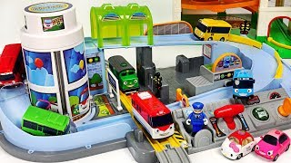 Titipo, Tayo's Station Playset~! Bus, Train~ Let's all run together! #PinkyPopTOY