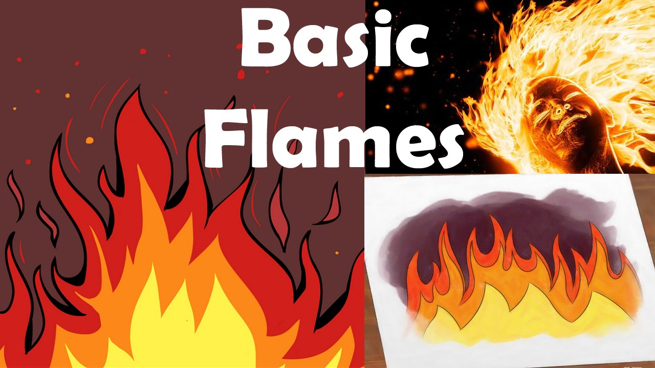 How To Draw Flames Youtube