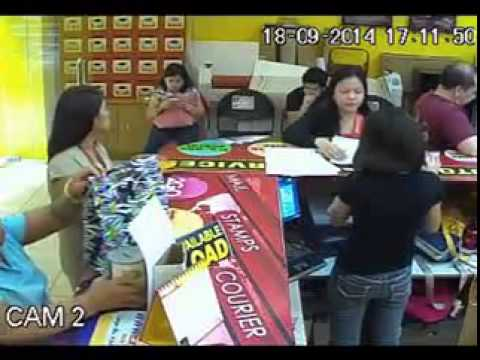 Woman Steals A Charity Donation Can In A Mall In The Philippines