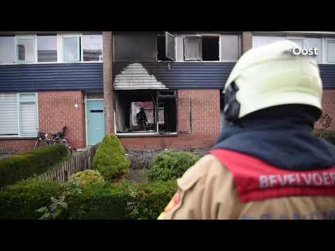 'Woning Almelo uitgebrand door brandstichting'