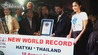 Guinness World Record for Most Models Ever On A Catwalk | Hat Yai 2012 Fashion Festival | FashionTV Thumbnail