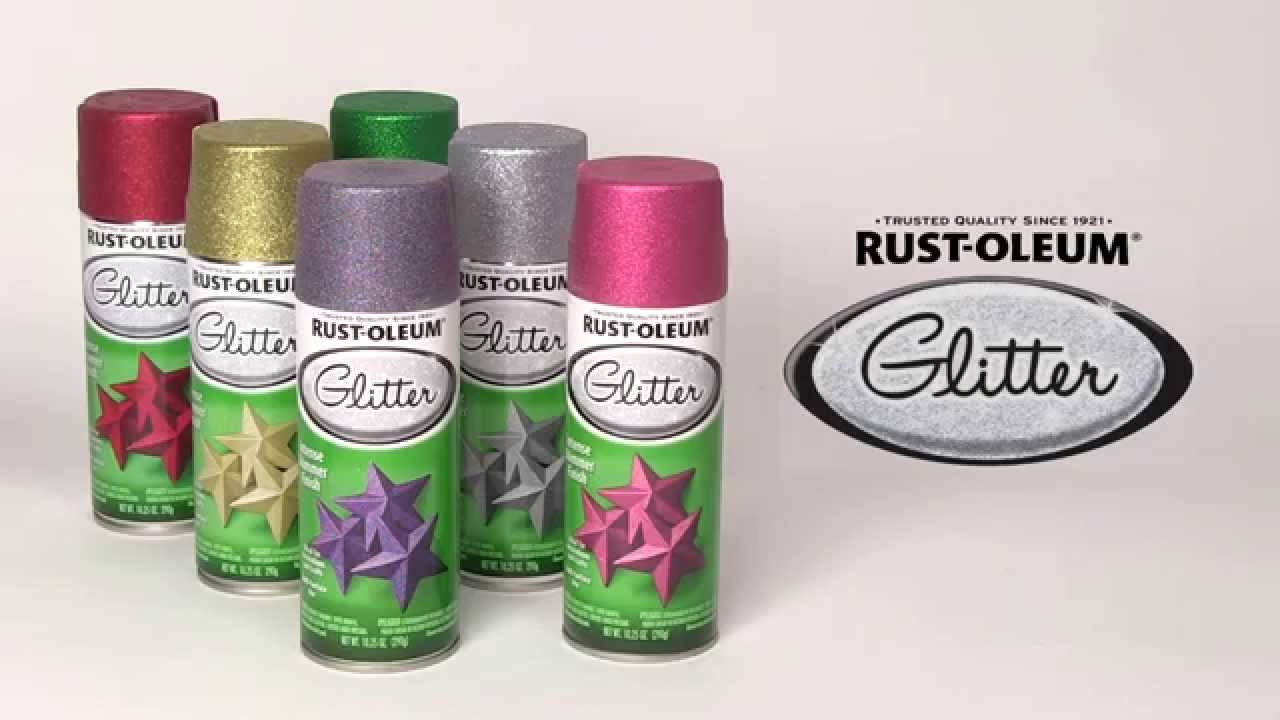 Add Full Coverage Sparkle with Rust-Oleum Glitter Spray ...