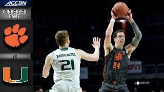 Clemson vs. Miami Condensed Game | 2018-19 ACC Basketball
