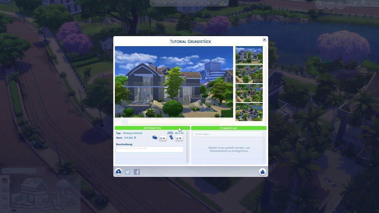 Haus/Grundstück In Die Die Sims 4 Galerie Hochladen   Die Sims 4 Tutorial