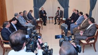 Syria News 13/5/2015, President al-Assad received Chairman of the Iranian Shura Council