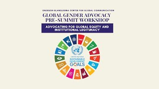 Emerson-Blanquerna Global Gender Advocacy Pre-Summit Workshop