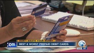 Best & Worst prepaid debit cards