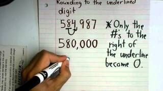 Rounding Numbers To The Nearest Thousands and Millions