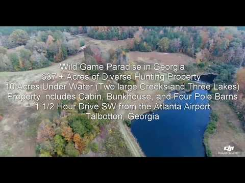 Land for Sale in Georgia | 637+ Acres of Diverse Hunting Property