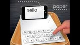 Как сделать из бумаги в клавиатуру РАБОТАЕТ! IOS(Ссылка на скачивание - www.socialgames.com/key5 WOOORK., 2014-06-10T21:13:42.000Z)