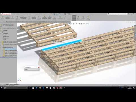 Formation SolidWorks] Concevoir un salon de jardin en palette - YouTube