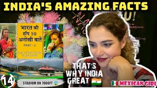 Mexican Reacts 10 UNKNOWN AMAZING FACTS ABOUT INDIA Part 2 Reaction