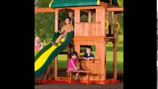 Backyard Discovery Prairie Ridge All Cedar Wood Playset, Bronze