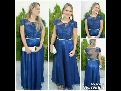 Vestido para madrinha de casamento cor azul royal