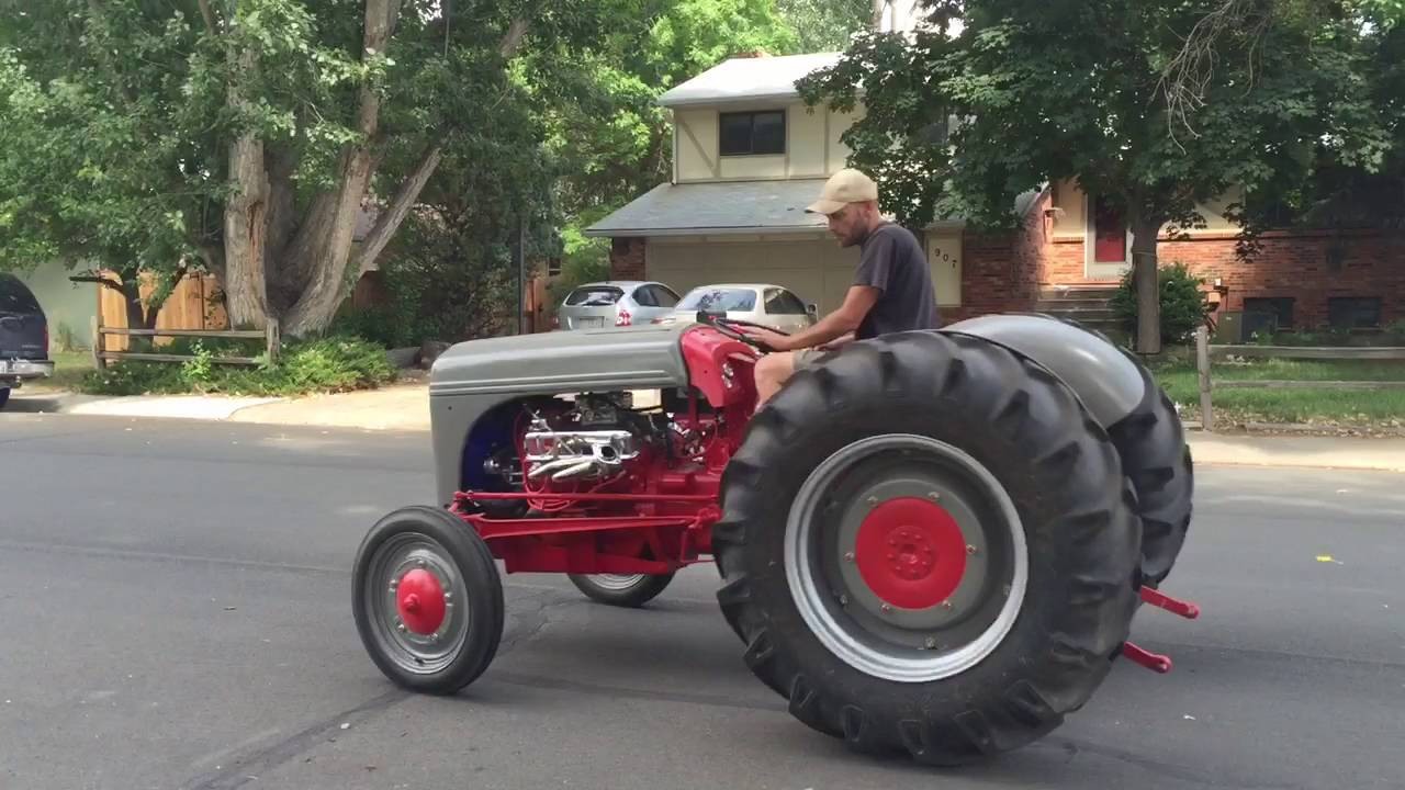 1942 Ford 9N with V8  YouTube