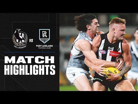 Collingwood V Port Adelaide Highlights   Round 18, 2020   AFL