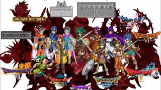 Repeat youtube video Dragon Quest/Warrior: All Normal Battle Themes Compilation