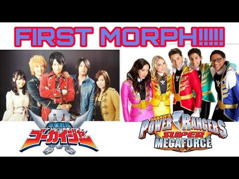Super Megaforce Vs Gokaiger | First Morph Comparison