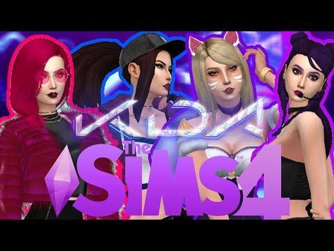 The Sims 4   Create A Sim   KDA - PopStars   League Of Legends   All CC  