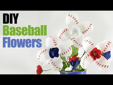 diy-baseball-flowers---water-bottle-flowers