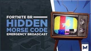 Fortnite Battle Royale: Llama Emergency Broadcast Tease With Hidden Morse Code Message Decoded!