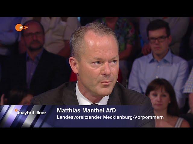 Die Kanzlerin der Flüchtlinge - Matthias Manthei AfD - Maybrit Illner 08.09.2016 - Bananenrepublik
