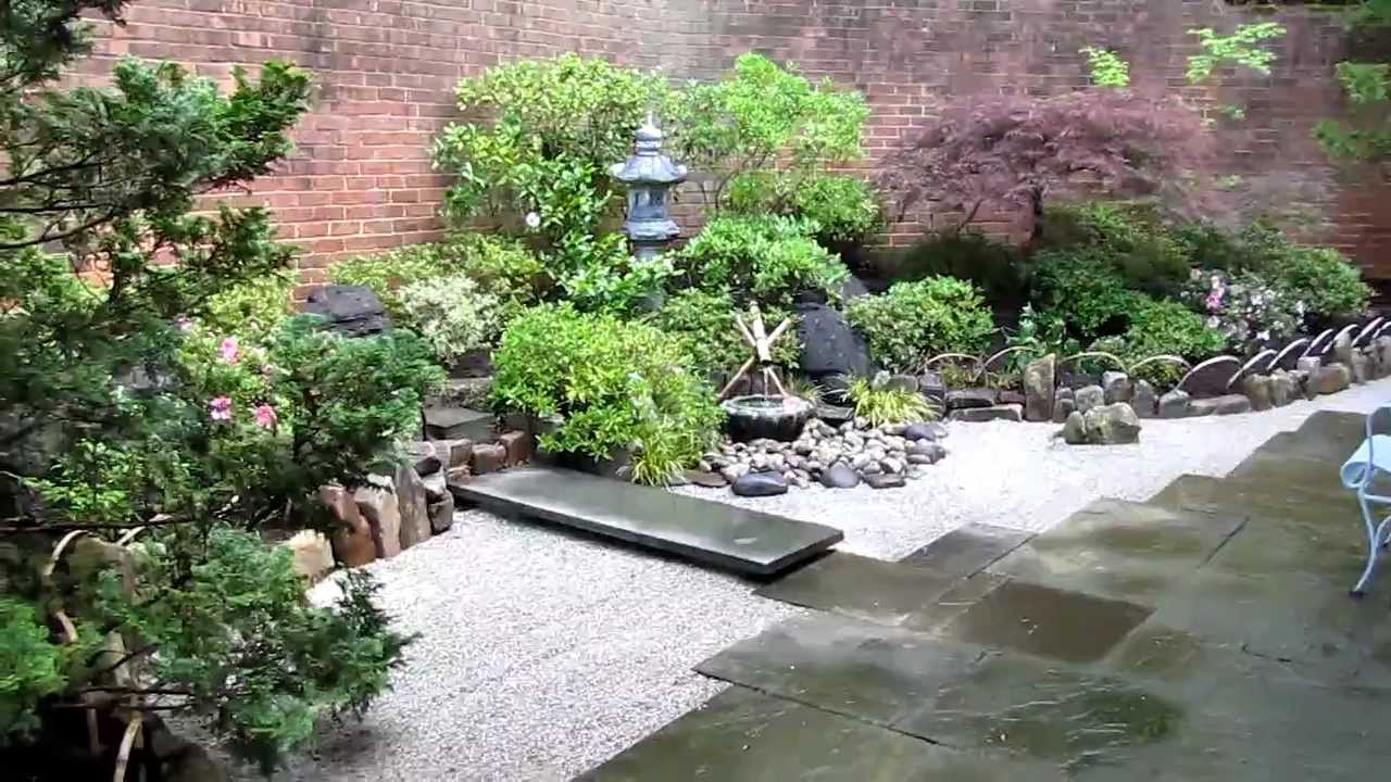 Japanese Zen style enclosed garden YouTube