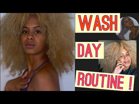 My Wash Day Routine | Blonde Natural Hair |