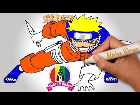 KEREN! Cara Menggambar Anime Naruto Dengan Mudah || Mister Draw