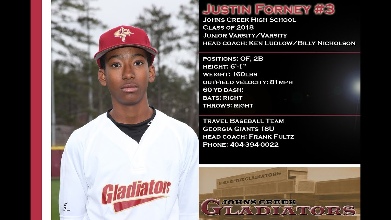 Justin Forney's Baseball Recruiting Profile