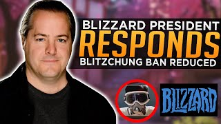 Blizzard President Responds to Controversy - Blitzchung Ban Reduced