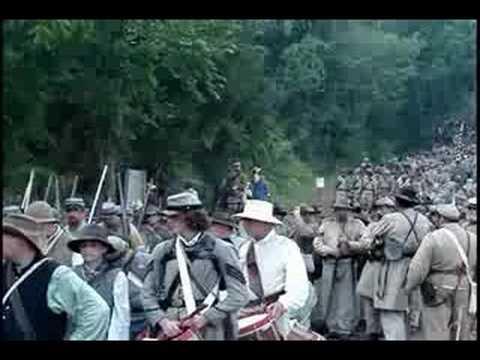 Gettysburg 2008 Civil War Reenactment ANV Marching to Battle