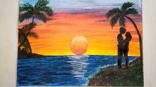 DIY Let's draw it/Suns Lover/Lovers on vacation/ Favorite landscape