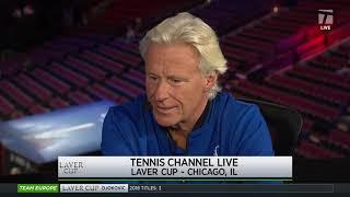 Team Europe's Captain Bjorn Borg - 2018 Laver Cup Tennis Channel Desk Visit