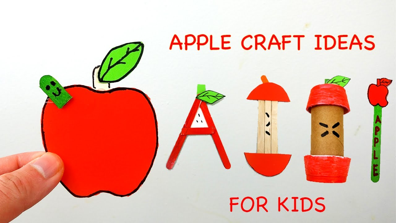 Diy Apple Craft Ideas For Kids Easy Simple From Paper Youtube