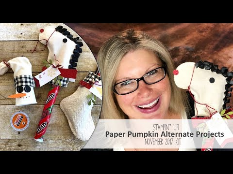 How to make 3 Holiday Treat Bags featuring November 2017 Paper Pumpkin Stampin Up Kit