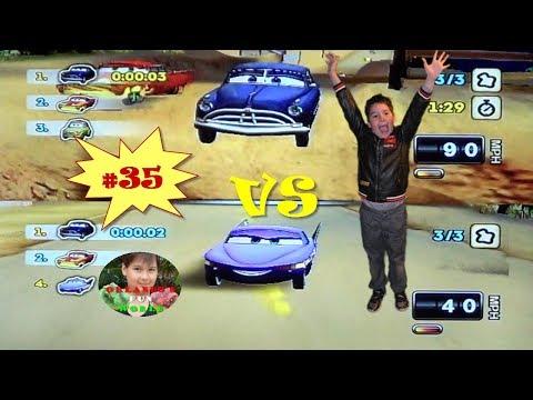 DISNEY PIXAR CARS - MATER NATIONAL - PART#35 - DOC HUDSON VS PURPLE FLO
