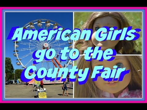 American Girl Dolls Nicki And McKenna Trip To The Fair