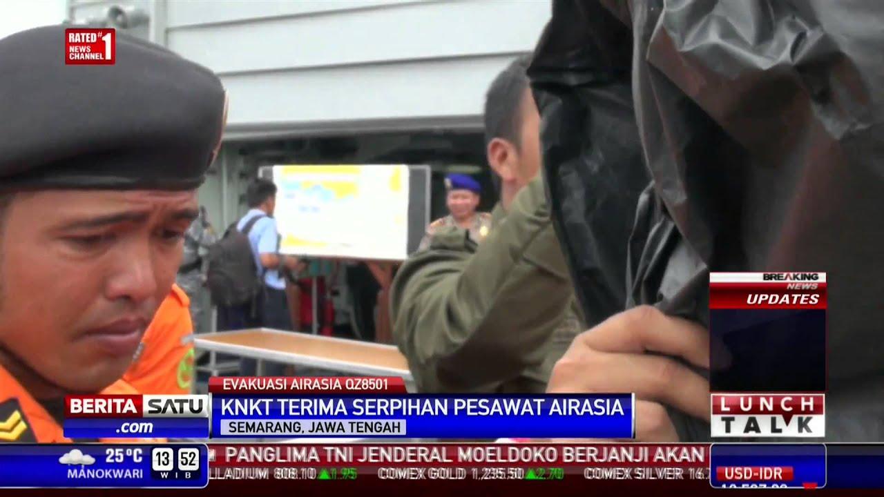 KNKT Terima Serpihan Pesawat AirAsia - YouTube
