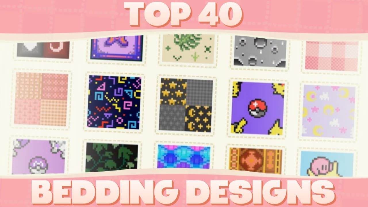 Top 40 Custom Bedding Designs For Animal Crossing New Horizons Youtube