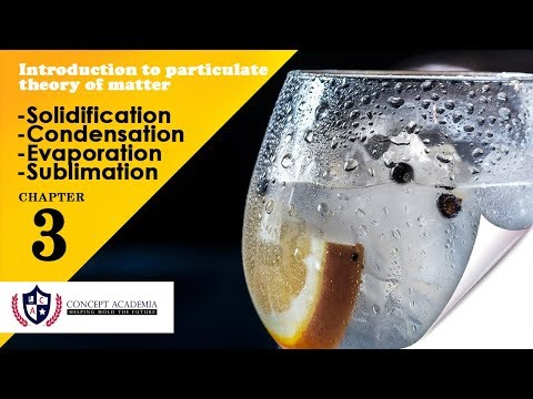 Solidification, Condensation, Sublimation and  Evaporation