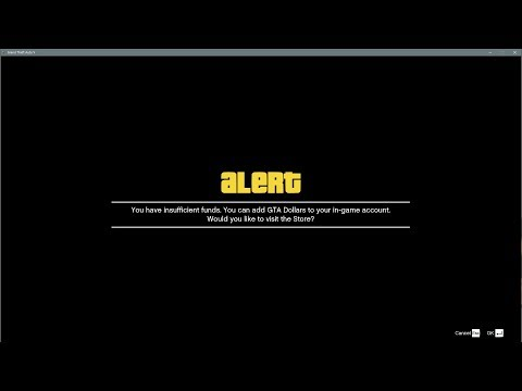 GTA Online: Modders Can't Use Their Money? Insufficient Funds Error!